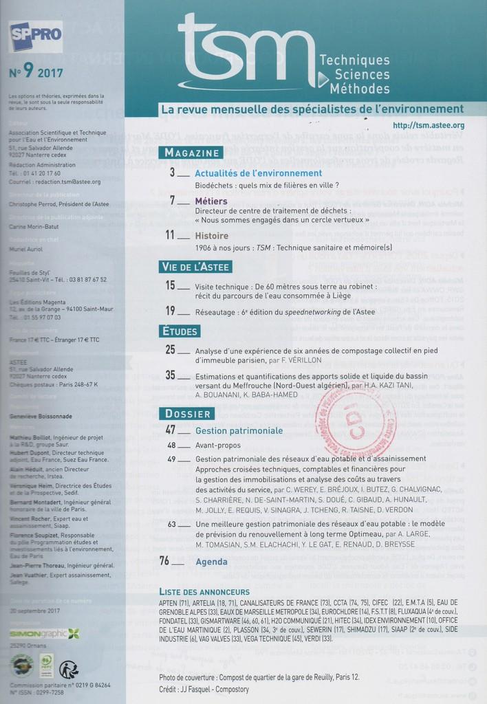 Techniques sciences méthodes. 9, Samedi 9 Septembre 2017 |