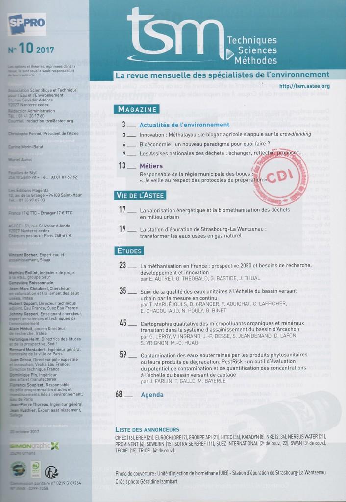 Techniques sciences méthodes. 10, Lundi 9 Octobre 2017 |