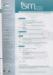 Techniques sciences méthodes. 11, Jeudi 9 Novembre 2017 |