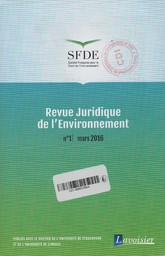 Revue juridique de l'environnement. 1, Jeudi 9 Mars 2017  