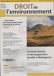 Droit de l'environnement. 254, Jeudi 9 Mars 2017  