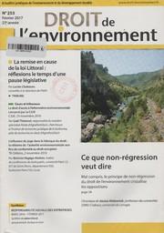 Droit de l'environnement. 253, Jeudi 9 Février 2017  