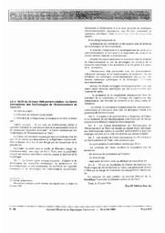 Loi nº 96-25 portant création du Centre International des Technologies de l'Environnement de Tunis |